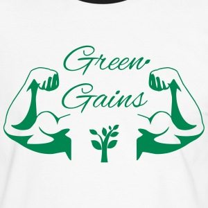 Green Gains T-Shirts - Men's Ringer Shirt