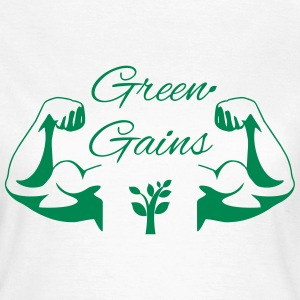 Green Gains T-Shirts - Vegan Power! - Women's T-Shirt