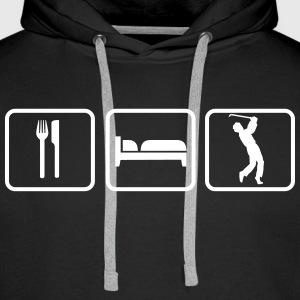 Eat Sleep Golf Pullover & Hoodies - Männer Premium Hoodie