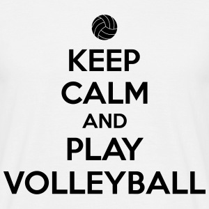 Keep calm and play volleyball T-shirts - T-shirt herr