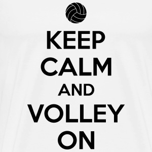 Kepp calm and volley on Camisetas - Camiseta premium hombre