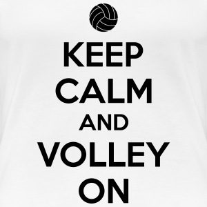 Kepp calm and volley on T-Shirts - Frauen Premium T-Shirt
