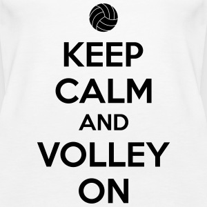 Kepp calm and volley on Tops - Frauen Premium Tank Top