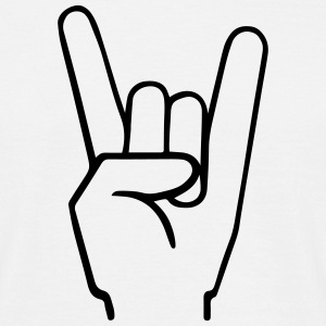 Heavy Metal Fingers T-shirts - T-shirt herr