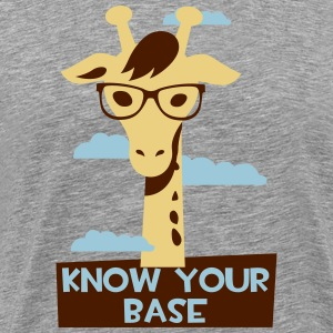Giraffe, Know your base Tee shirts - T-shirt Premium Homme