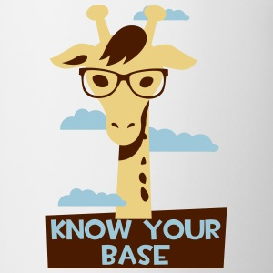 Giraffe, Know your base Flaskor & muggar - Tvåfärgad mugg