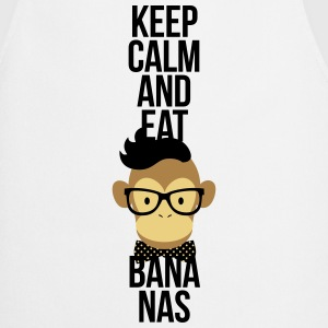 Nerd, Keep Calm and eat bananas. Affe, Schimpanse Delantales - Delantal de cocina