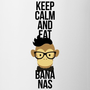 Nerd, Keep Calm and eat bananas. Affe, Schimpanse Bottiglie e tazze - Tazza