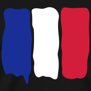 French flag runny paint T-shirts - Mannen Premium T-shirt