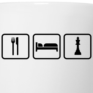 Eat Sleep Chess Bottiglie e tazze - Tazza