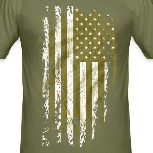 us army grunge style T-Shirts - Men's Slim Fit T-Shirt