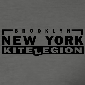 brooklyn_ny_vec_1 T-Shirts - Men's Slim Fit T-Shirt
