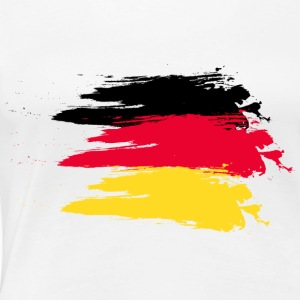 Germany smudge flag T-shirts - Vrouwen Premium T-shirt