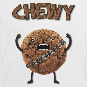 Funny Nerd Humor - Chewy Chocolate Cookie Wookiee T-shirts - Dame kontrast-T-shirt