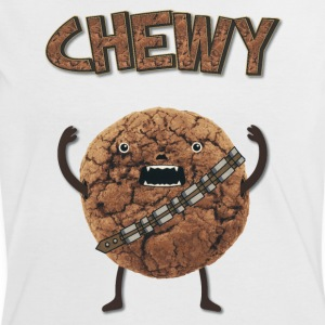 Funny Nerd Humor - Chewy Chocolate Cookie Wookiee T-Shirts - Women's Ringer T-Shirt