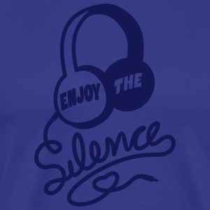 enjoy the silence - headphones music - Männer Premium T-Shirt