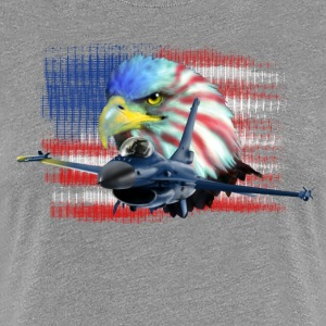 Jet F-16 Fighting Falcon Camisetas - Camiseta premium mujer