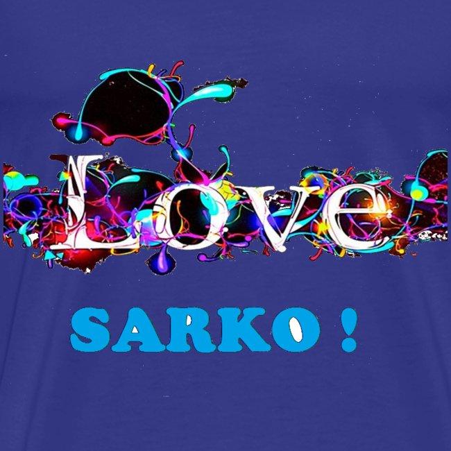 TSHIRT BLEU HOMME LOVE SARKO
