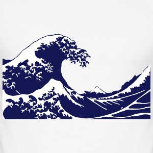 Wave T-Shirts - Men's Slim Fit T-Shirt