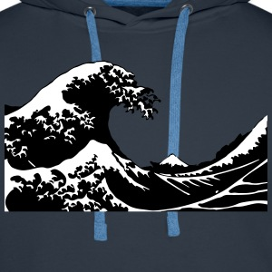 Wave - Vague Sweat-shirts - Sweat-shirt à capuche Premium pour hommes