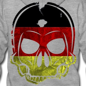 MMJ Germany Flag Skull / Skull Hoodies & Sweatshir - Men's Premium Hooded Jacket