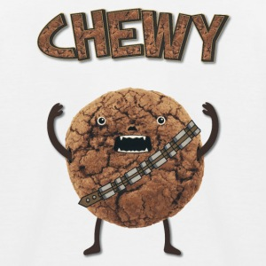 Funny Nerd Humor - Chewy Chocolate Cookie Wookiee T-shirts - Baseboll-T-shirt barn