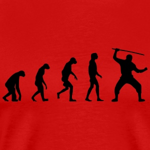 Evolution of Ninja / Samurai Warriors T-shirts - Premium-T-shirt herr