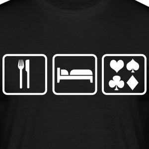 Eat Sleep Poker T-Shirts - Männer T-Shirt
