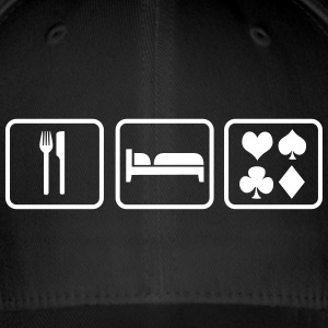 Eat Sleep Poker Petten & Mutsen - Flexfit baseballcap
