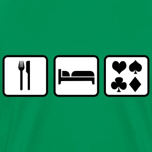 Eat Sleep Poker T-shirts - Mannen Premium T-shirt