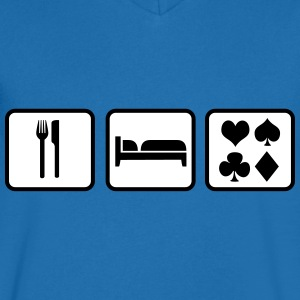 Eat Sleep Poker Tee shirts - T-shirt Homme col V