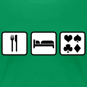 Eat Sleep Poker T-shirts - Vrouwen Premium T-shirt