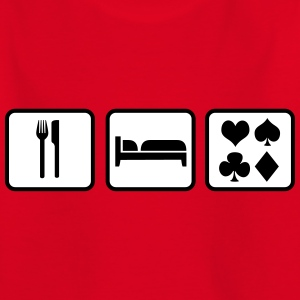 Eat Sleep Poker Skjorter - T-skjorte for barn