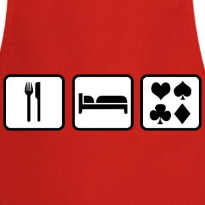 Eat Sleep Poker Grembiuli - Grembiule da cucina