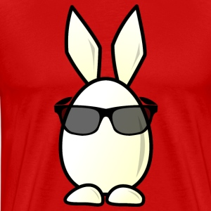 Egg Bunny with sunglasses T-Shirts - Men's Premium T-Shirt