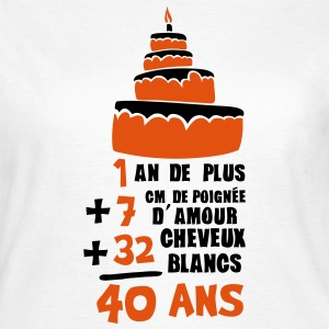 40 ans poignee amour cheveux blanc addit Tee shirts - T-shirt Femme