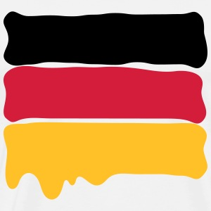 German flag wet paint - Männer Premium T-Shirt