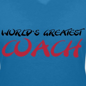 World's greatest Coach T-Shirts - Women's V-Neck T-Shirt