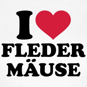 I love Fledermäuse T-Shirts - Frauen T-Shirt
