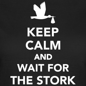 Keep calm and wait stork T-Shirts - Frauen T-Shirt