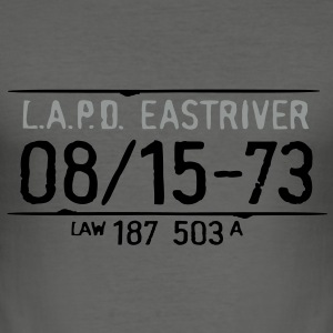lapd_riverside_vec_2 T-Shirts - Men's Slim Fit T-Shirt