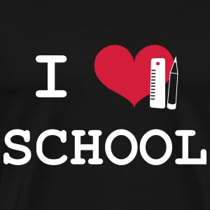 I Love School T-Shirts - Men's Premium T-Shirt