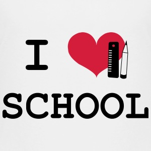 I Love School Shirts - Teenager Premium T-shirt