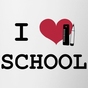 I Love School Bottles & Mugs - Contrasting Mug