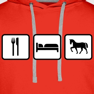 Eat Sleep Ride, Eat Sleep Horse Pullover & Hoodies - Männer Premium Hoodie