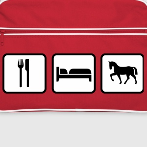 Eat Sleep Ride, Eat Sleep Horse Bolsas y mochilas - Bandolera retro