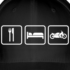 Eat Sleep Motorrad, Eat Sleep Bike Kasketter & Huer - Flexfit baseballcap