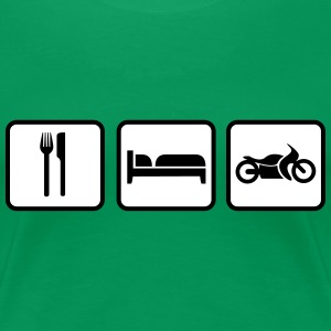 Eat Sleep Motorrad, Eat Sleep Bike T-Shirts - Women's Premium T-Shirt