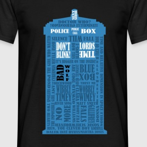 Doctor Who Blue Box typography - Maglietta da uomo
