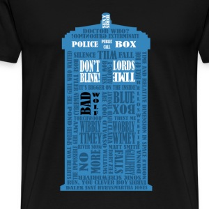 Doctor Who Blue Box typography - Maglietta Premium da uomo